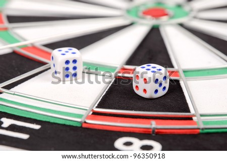 Dices and dartboard