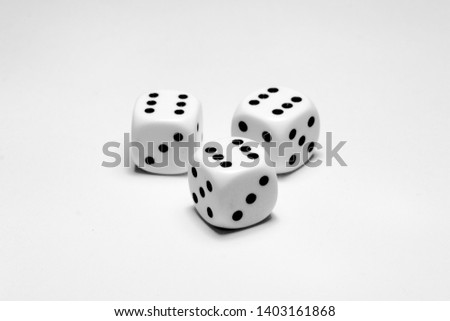 Dices Game Luck White Background #1403161868