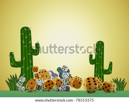 dices on green table