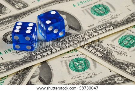 Dices on some money concepts of gambling or taking a risk