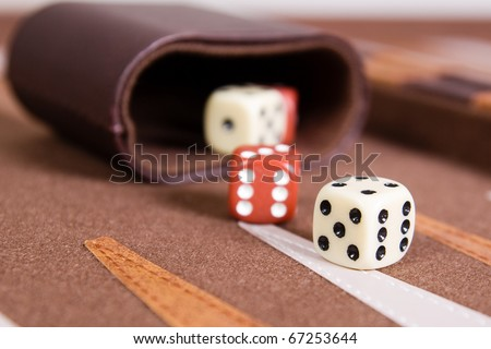 Dices set to play backgammon