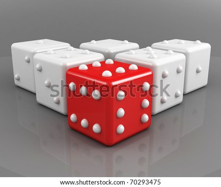 dices. winning leadership concept