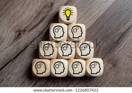 Dices with Teamwork Idea Business #1226807422