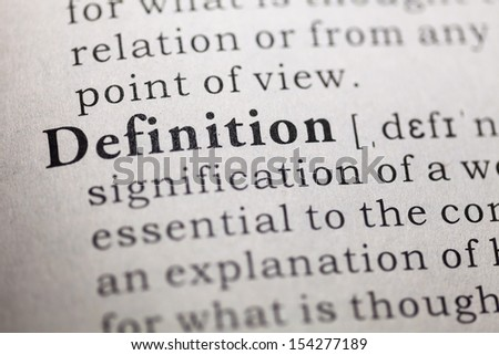 Dictionary definition of the word definition