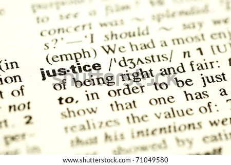 Dictionary definition of the word Justice.