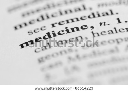Dictionary Series - Medicine