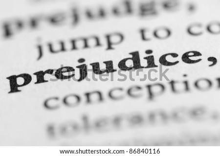Dictionary Series - Prejudice