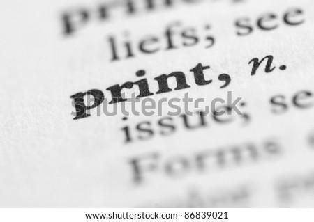 Dictionary Series - Print