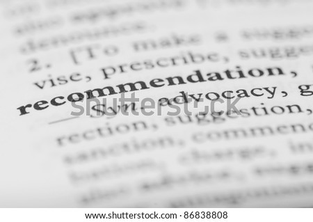 Dictionary Series - Recommendation