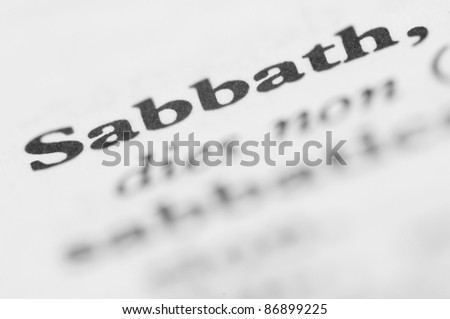 Dictionary Series - Sabbath