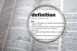 Dictionary showing the word 'Definition'.