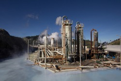 Dieng Geothermal Energy, the one of the biggest geothermal power station in Indonesia.