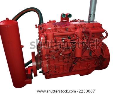 Diesel engine - Red.