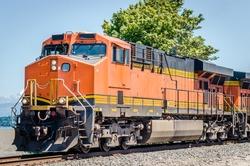 Diesel Locomotive on a Clear Summer Day