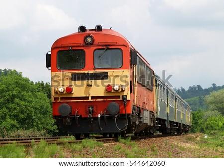 diesel passenger train in...