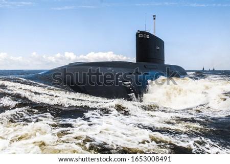 Photo of  Diesel submarine in St. Petersburg