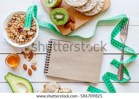 Diet concept, healthy food for slim figure #586709825