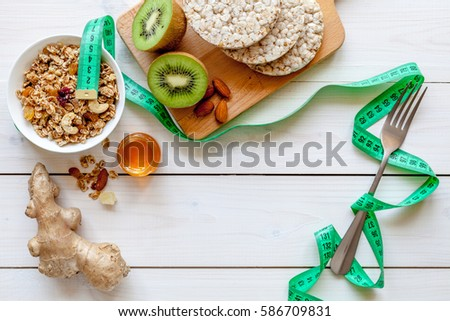 Diet concept, healthy food for slim figure #586709831