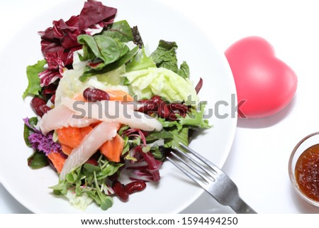 Diet diet vegetable salad in the plate