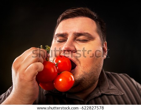free photos diet fat guy and vegetable avopix com