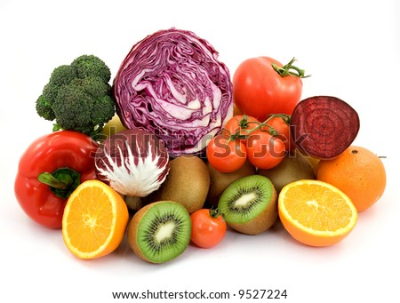 diet healthy food studio isolated - stock photo