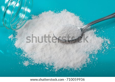 Diet supplement, glucosamine, fructose, dextrose or spirulina extract. Could also be a Sport Supplement like lysine, guarana, valine or protein powder.