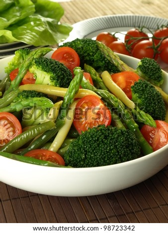 Dietary vegetable mix for vegetarians