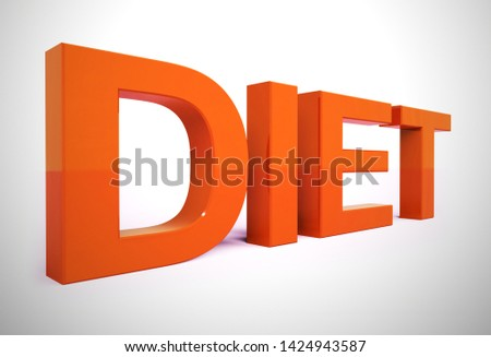 Dieting advice or diet tips to help lose weight. Tricks and hints for slimming - 3d illustration
