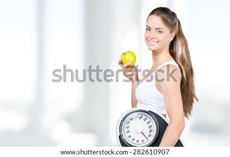 Dieting, Women, Exercising.