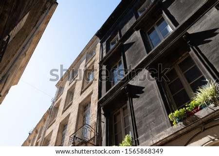 Difference between clean wash cleaned house facade and dirty one before and after washed #1565868349