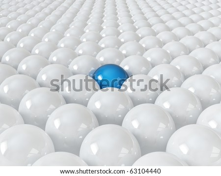 Different blue ball