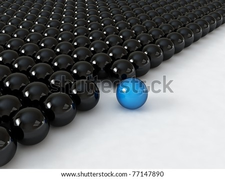 Different blue ball