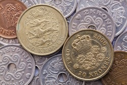 Different coins of Danish Krone