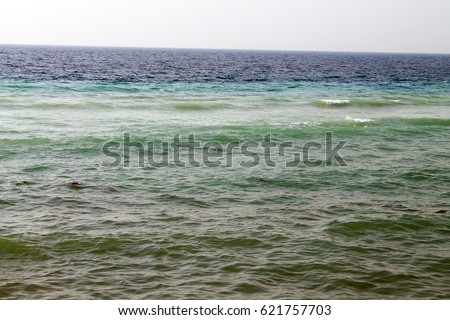 Different color of the sea #621757703