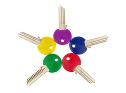 different colored keys on white background