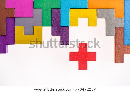 different colorful shapes...