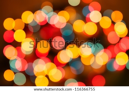 Different colors Bokeh, abstract light, background - stock photo