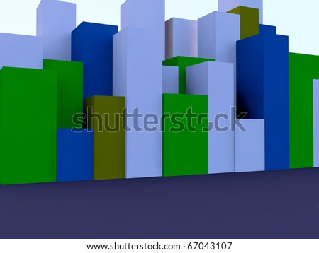 different colors of building blocks