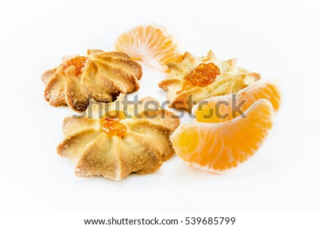 different cookies on the white background #539685799