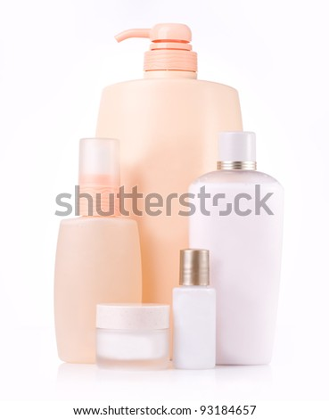 different cosmetic bottle - group isolated