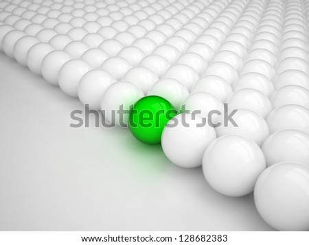 Different green ball