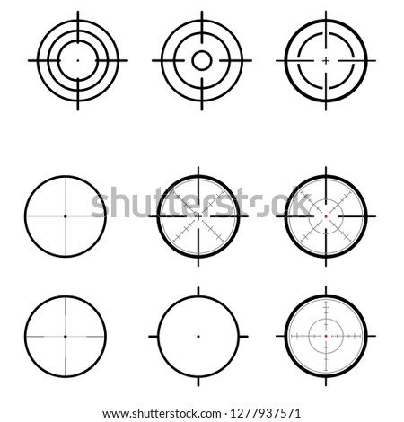 Different icon set of targets and destination. Target and aim, targeting and aiming. illustration for web design