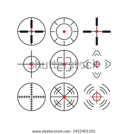 Different icon set of targets and destination. Target and aim, targeting and aiming. illustration for web design.