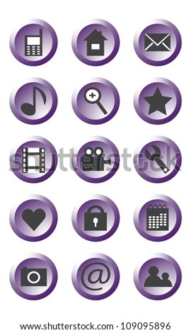 Different icons for use in mobile phone
