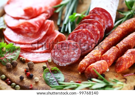 Shutterstock Different Italian ham and salami with herbs