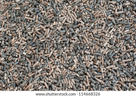 Different kind of pellets - mix