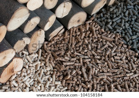 Different kind of pellets- oak, pine,sunflower.