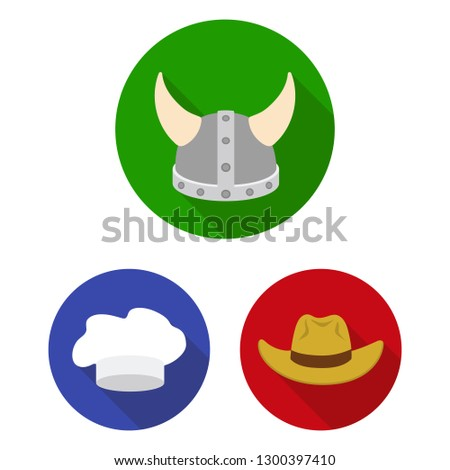 c25f1324899e8 Headdress bitmap symbol stock Different kinds of hats flat icons in set  collection for design.Headdress bitmap symbol stock ...