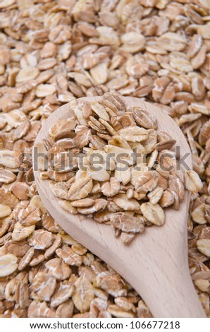 Different kinds of natural and healthy cereals for breakfast. - stock photo