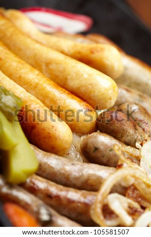different kinds of sausages